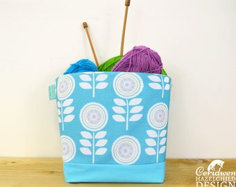Scandi Floral Fabric Storage Box, Storage Basket, Fabric Basket, Fabric Organiser, Storage Bin
