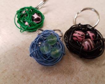 Birds Nest Zipper Charms