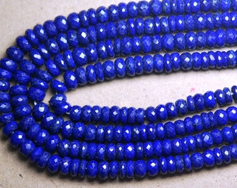 14 Inch Long Strand-Super-AAA Quality, LAPIS LAZULI Micro Faceted Rondells, 5.5-6mm Size