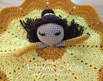Made to ORDER! - Crocheted Princess Inspired Lovey/Security Blanket/Crochet Doll/Amigurumi Doll