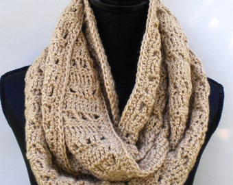 Crochet Infinity Scarf Pattern - Little Twists Infinity Scarf Crochet Pattern with Instructions in Pictures and Writing - Instant Download!