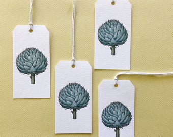 Gift Tags, Tags, Shipping Tags, Artichoke