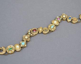 Vintage Costume Watch Slide Bracelet