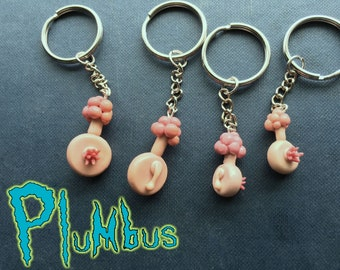 Plumbus - Rick and Morty Keychain or Charm With Manual