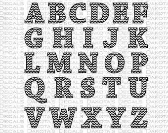 Chevron Alphabet SVG for Download