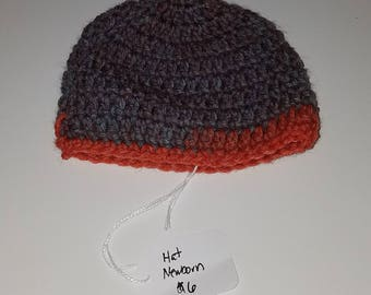 Hand Crocheted Beanie Hat Newborn Wizard