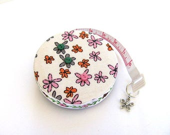 Tape Measure Reverse Flowers Retractable Pocket Measuring Tape