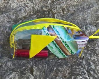 Transparent makeup, transparent makeup pouch, wallet, clutch Kit cab, transparent Kit toiletry bag