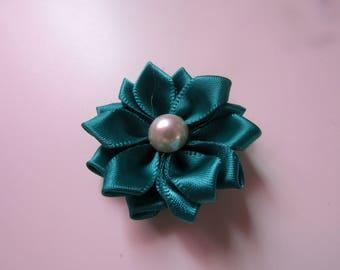 applique flower satin fabric 35mm jewelry scrapbooking