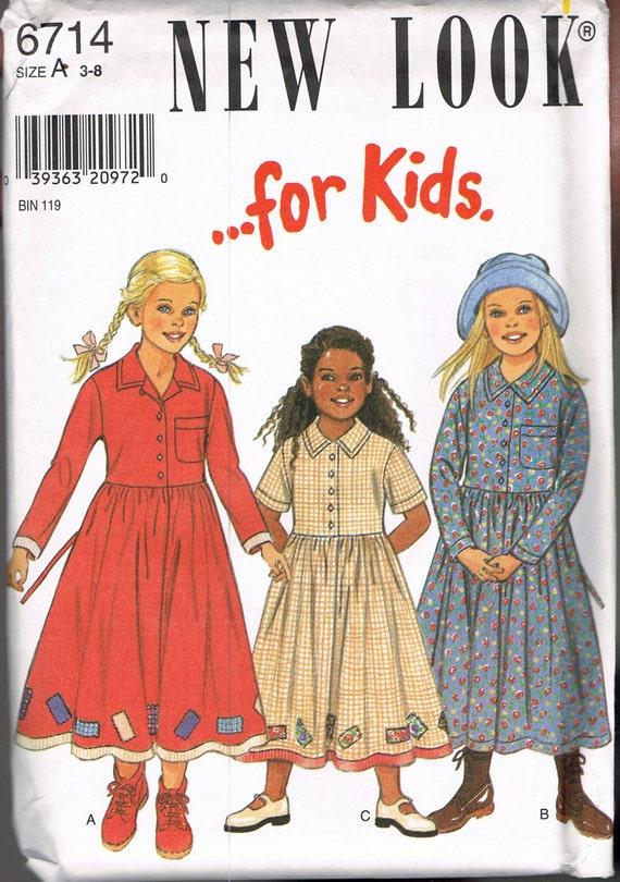 Größe 3-8 Mädchen Kleid Muster Knöchel-Länge-Oma-Kleid mit