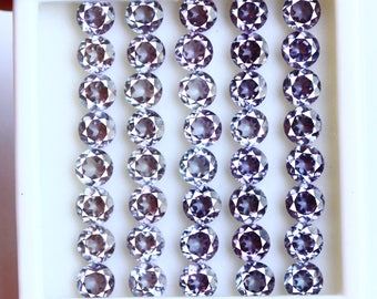 67.30Ct Certified Natural Heated Round Cut Color Changing Alexandrite Gemstone Lot 40Pcs AU3750