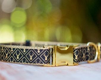 Golden Moose Dog Collar / Gold Deer Dog Collar / Dog Collars Australia