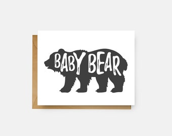 Baby Bear Card // Baby Shower Gift // Expecting Mother // The Busy Bee