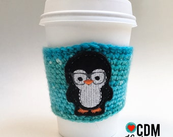 Coffee Cup Cozy - Penguin