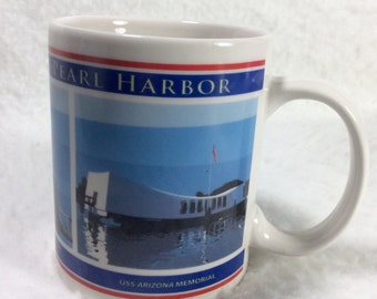 Pacific Historic Parks Pearl Harbor collectible coffee cup mug. Free ship to US