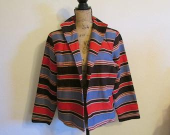 Colorful Southwester Western Painted Pony Jacket Coat  **Free USA Shipping**