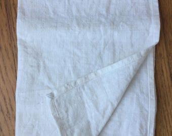 Linen Dish Towel, Kitchen Towel, Tea Towel, White