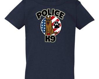 Kid Friendly Police K-9 Toddler Tee