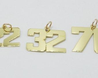 sport numbers ,14k gold  ..numbrs