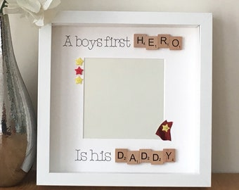 A boys first hero is his daddy, daddy superhero, Father's Day gift, father son gift, First Father's Day gift, daddy to be gift, new daddy