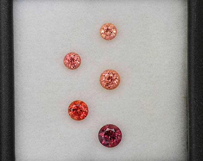 Nice Pink and Orange Sapphire Gemstone Set from Tanzania 1.20 tcw.