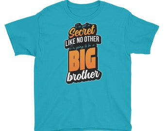 Funny Big Brother Announcement Youth Short Sleeve T-Shirt