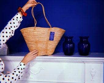 Woven Basket shoulder Bag, Straw Bag, Woven Straw Purse, Light Tan Woven Straw Purse, Beach Bag, Picnic Bag