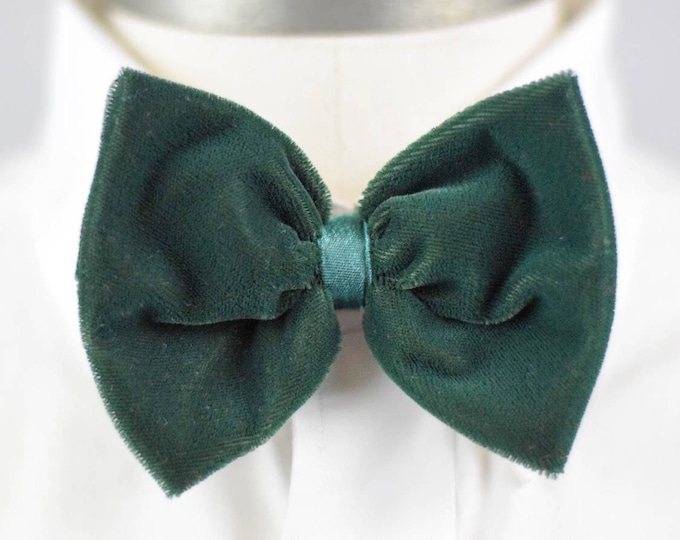 Featured listing image: Green Velvet Bow Tie