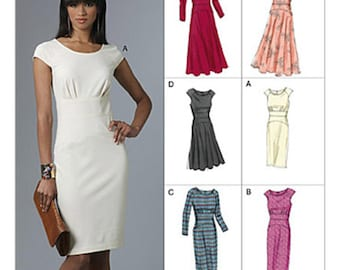 Sz 14/16/18/20 - Vogue Dress Pattern V8685 - Misses' Close-Fitting Dress in Six Variations - Vogue Options Pattern