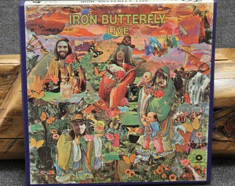 Iron Butterfly Live Reel to Reel Tape 3-3/4 ips Play Tested VG+++