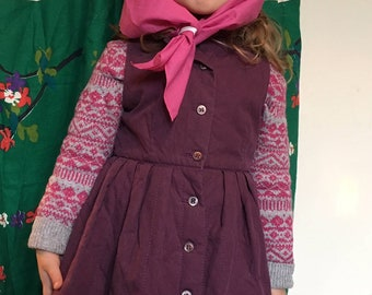 Dries van Noten vintage girls padded vest dress