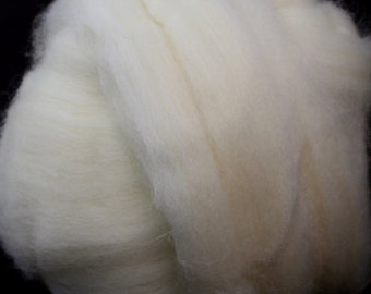 Undyed White Superwash Blue Faced Leicester Wool Combed Top/Roving by the Ounce or by the Pound
