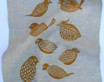 100% linen tea towel. Double layer fabric.