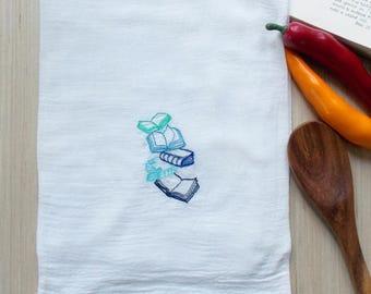 Book Lovers Tea Towel - Literary Kitchen Decor - Book Decor