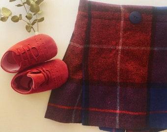Tartan uncycled winter skirt