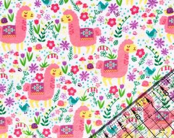 Llama Fabric, Flannel BTY, Fabric By The Yard, Quilting Fabric, Cotton Fabric, Fabric, BTY, Llamas