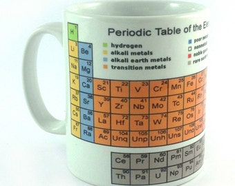 periodic table of elements mug cup ideal gift for science chemistry teacher student school university college - Periodic Table Of Elements Gifts