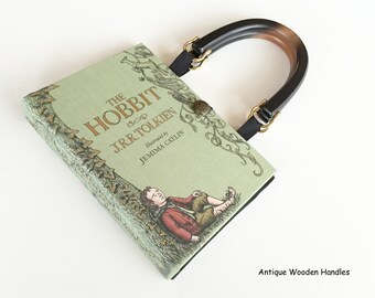 The Hobbit Book Purse - JRR Tolkien Book Cover Handbag - The Hobbit Book Clutch - LoTR Cosplay Costume - The Shire Pocketbook - LoTR Gift