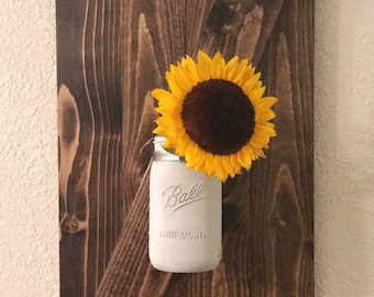 Rustic Barn Door Mason Jar/Ball Jar Holder