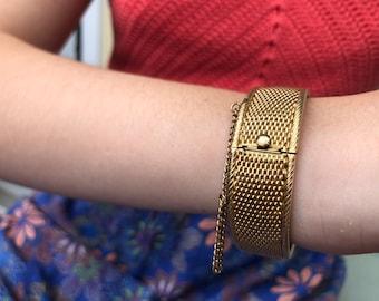 Winard 12K GF Mesh Cuff Bracelet. In excellent condition.