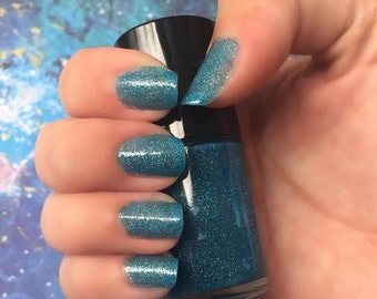 Stratosphere - Blue  Scattered Holographic Jelly Nail Polish