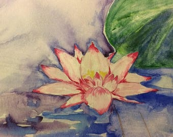 Lotus Bloom (8x10) unframed print