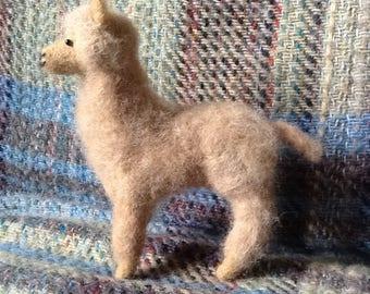 Needle felted Alpaca