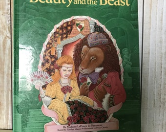 Vintage Beauty and the Beast Story Book
