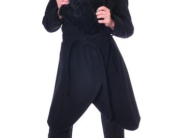 Black Coat, Womens Wool Coat, Winter Coat Women, Coat Asymmetrical, Coats Winter, Winter Jacket, Warm Coat, Hand Made Coat, Danellys D14.7.4
