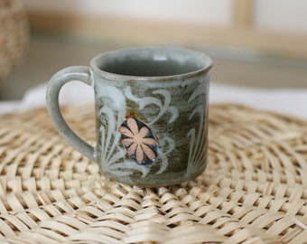 Vintage Stoneware Coffee Mug/Boho/Midcentury/Ceramic