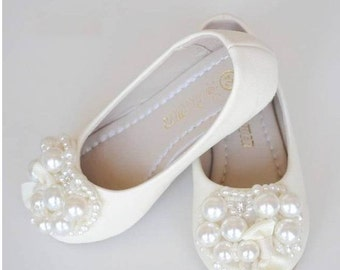 Flower girl shoe etsy more colors ivory flower girl shoes toddler girl mightylinksfo