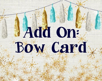 Bow Card - Add a Hairbow Card to your Etsy and Facebook Business Set, Etsy Hairbow Card, Made 2 Match - Headband Card