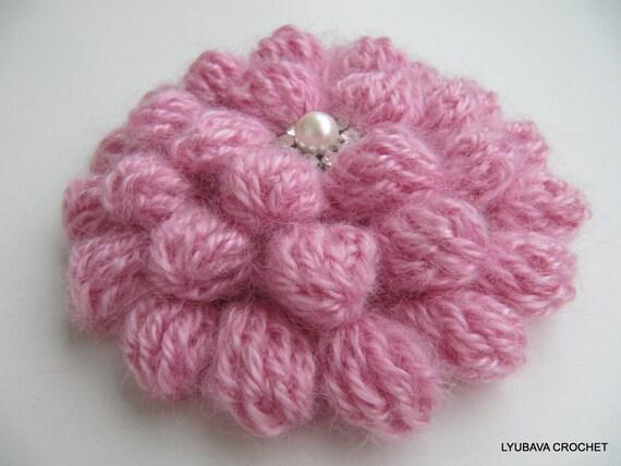 Crochet Flower PATTERN, Crochet Brooch Pattern, Crochet Jewelry, DIY ...