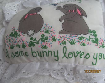 Some Bunny Loves You - Pillow - Taiwan - NIP -Plush - Gift- Decoration